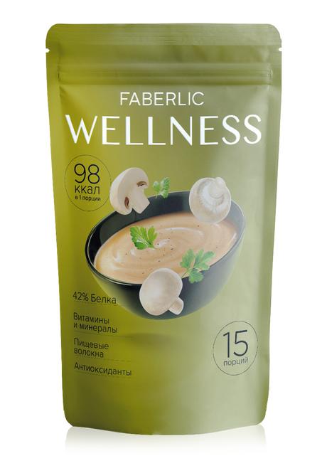 Белковый суп Faberlic Wellness со вкусом Грибы со сливками