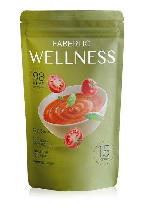 Белковый суп Faberlic Wellness со вкусом Томат с базиликом